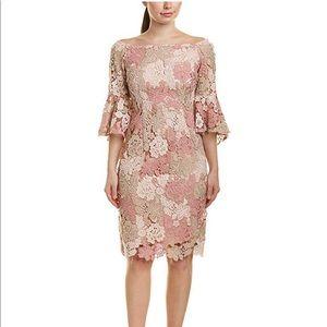 Tahari ASL Blush Lace Dress